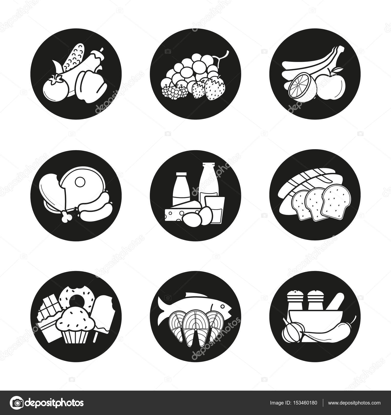 grocery store product categories icons stock vector bsd 153460180
