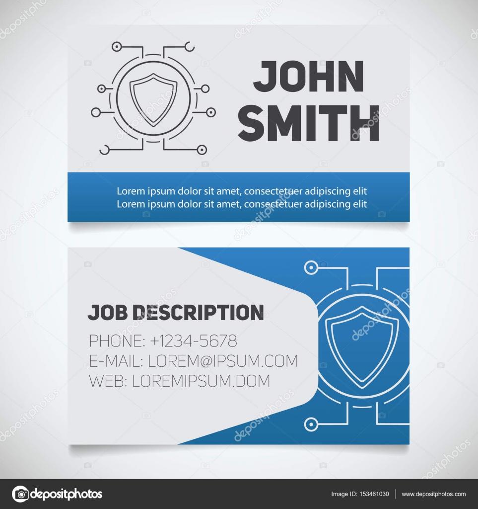 Business card print templates — Stock Vector © bsd #153461030