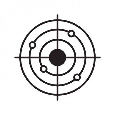 Shooting range linear icon