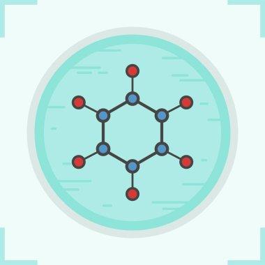 Molecule color icon