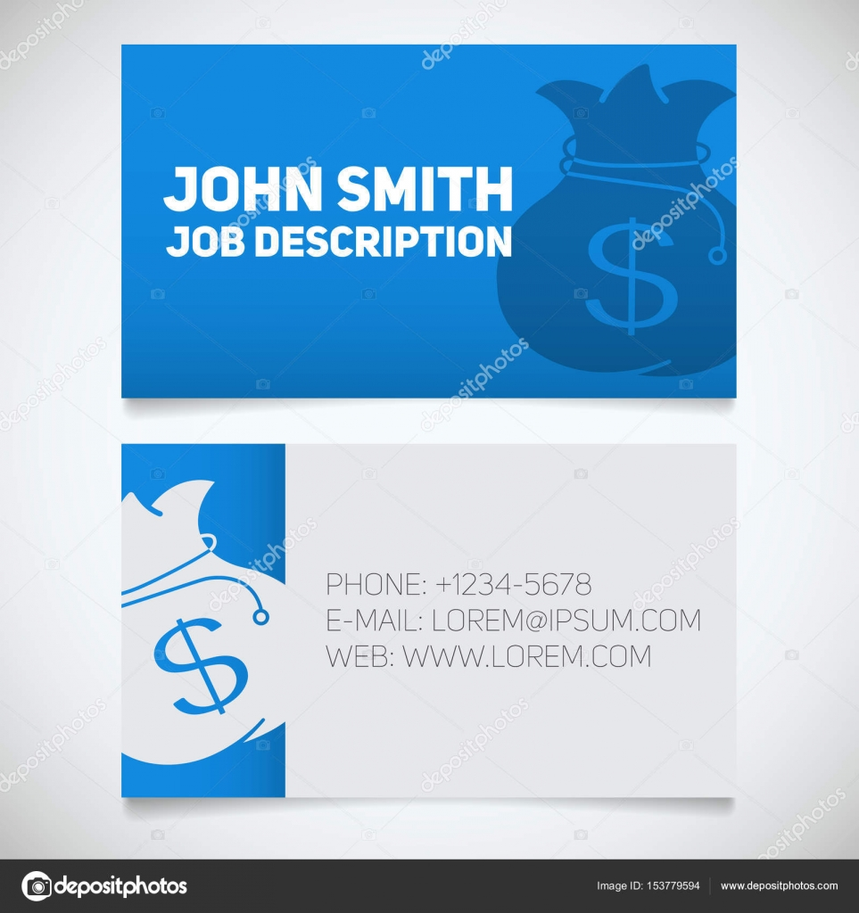 Business card print template — Stock Vector © bsd #153779594