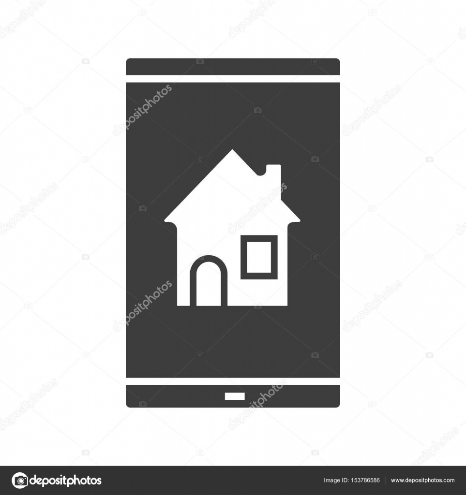Smartphone Home Screen Icon Stock Vector Bsd 153786586
