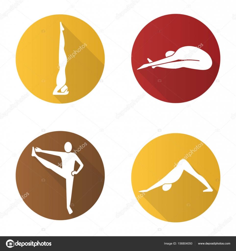 Conjunto de iconos de asanas de yoga — Vector de stock © bsd  156804050 53d4adadf043