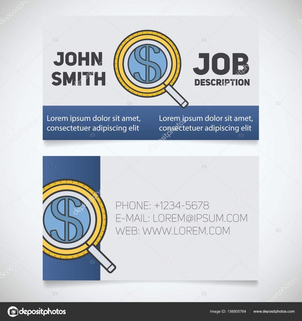 Visitenkarte mit Investoren suchen logo — Stockvektor © bsd #156805764