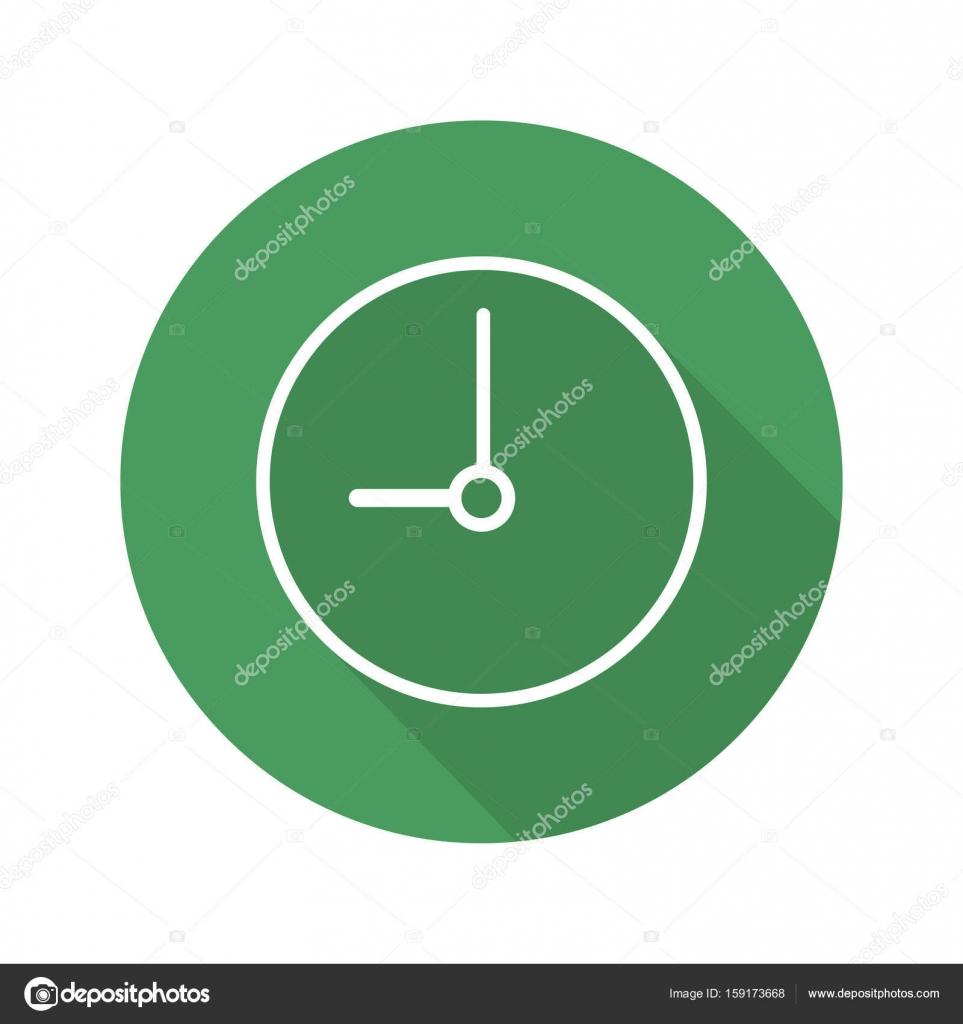 635806d930dc Icono de plano del reloj. Tiempo. Vector símbolo de línea — Vector de ...