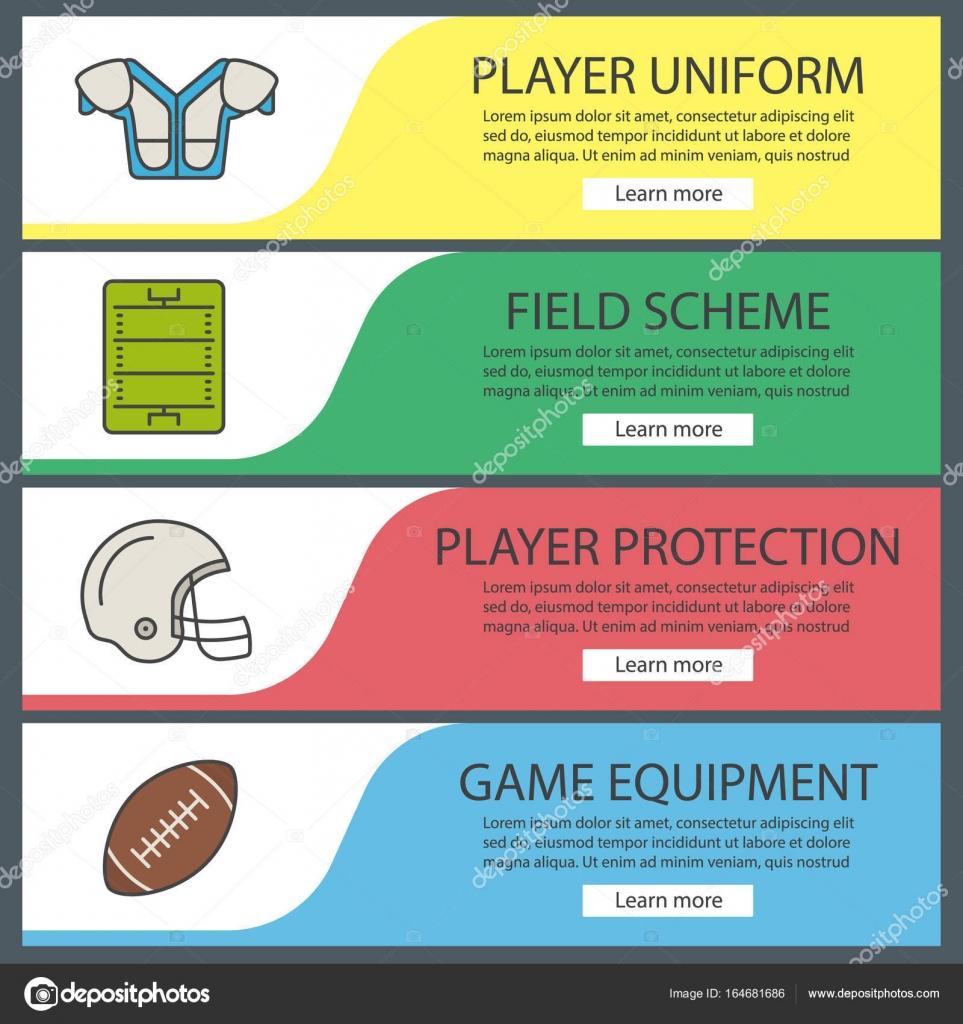 American football web banners — Stock Vector © bsd #164681686