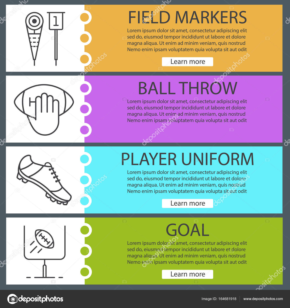 American football web banners — Stock Vector © bsd #164681918