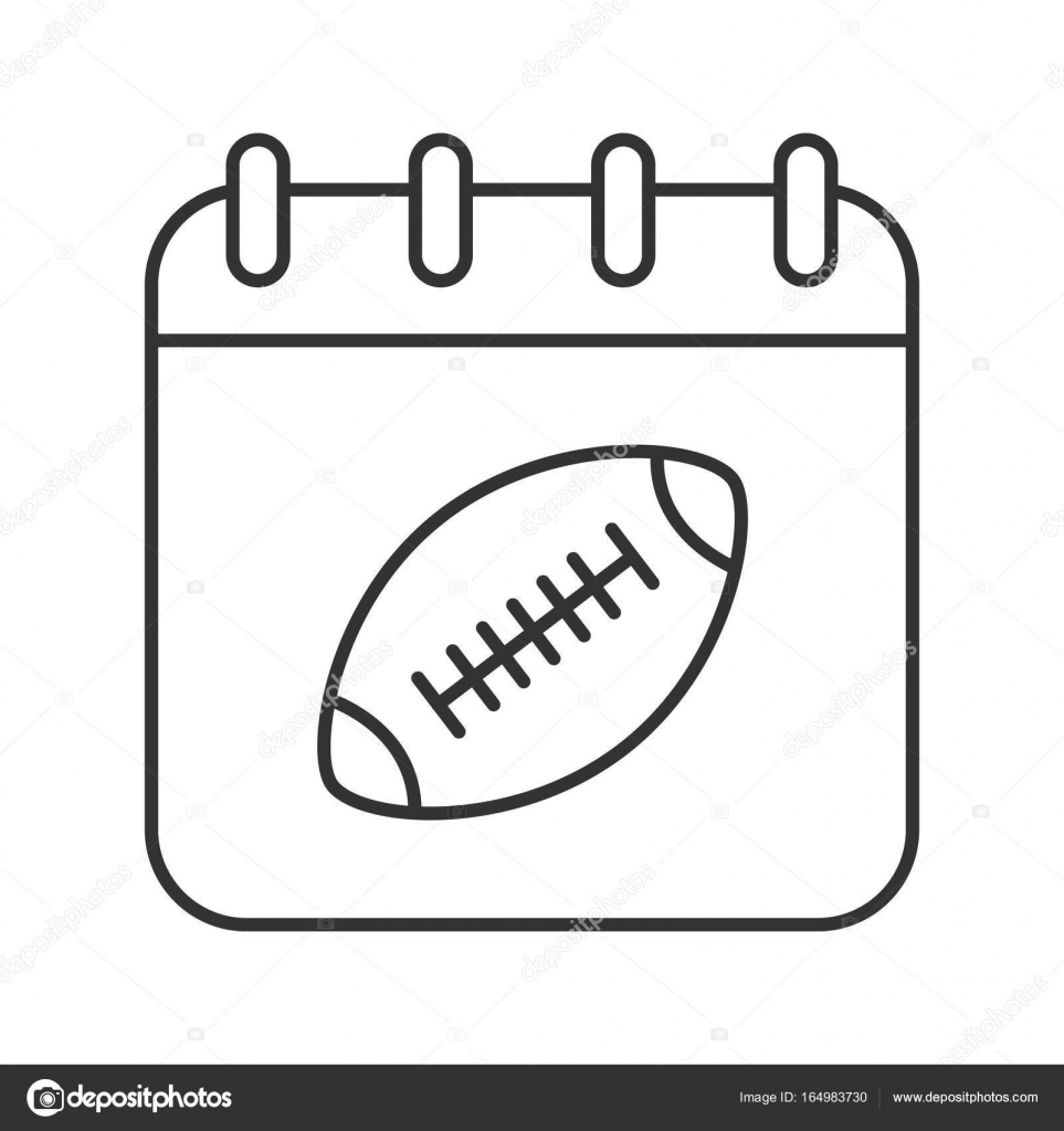 Super Bowl Date Icon Stock Vector Bsd 164983730