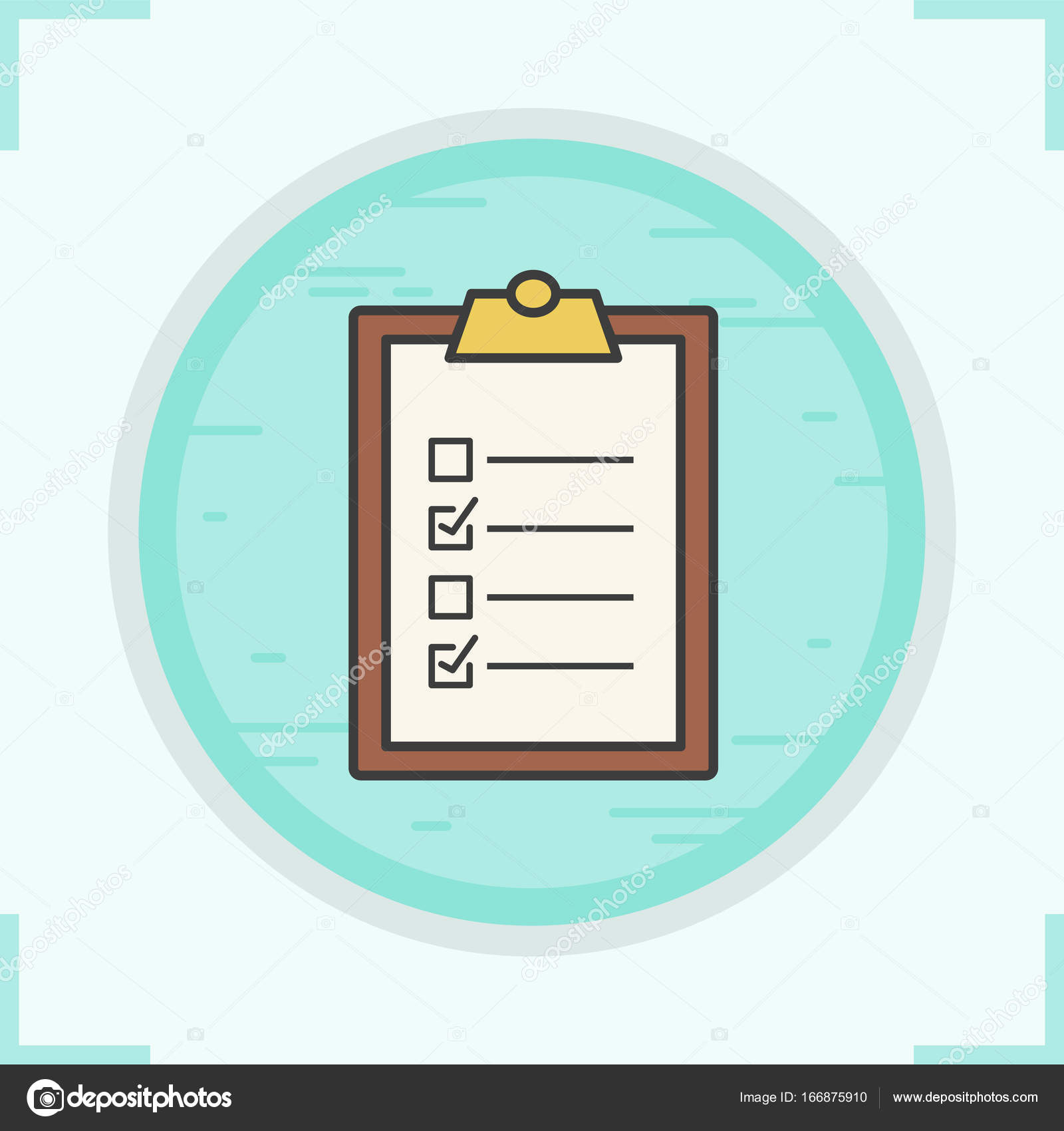 clipboard checklist color icon stock vector