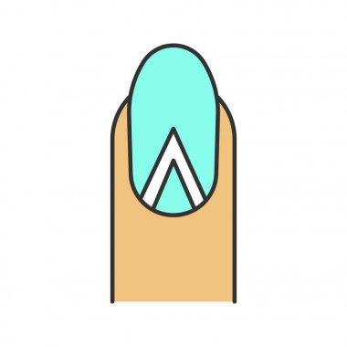 Geometric moon manicure color icon