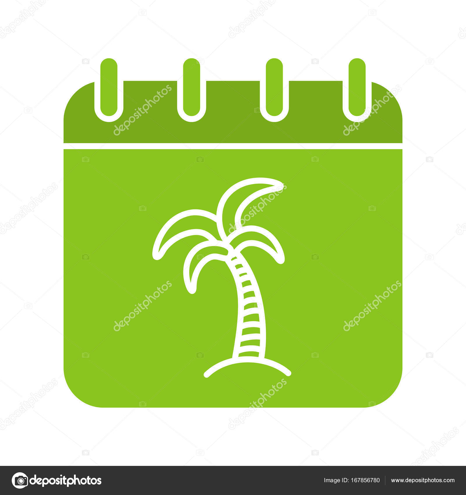 Vacations days glyph color icon — Stock Vector © bsd #167856780
