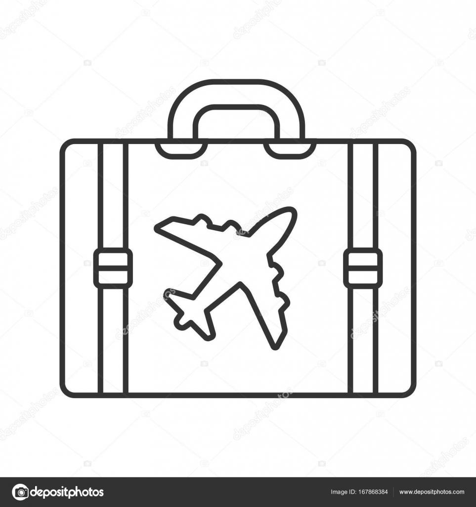 viagem bagagem mala linear 237 cone vetores de stock 169 bsd