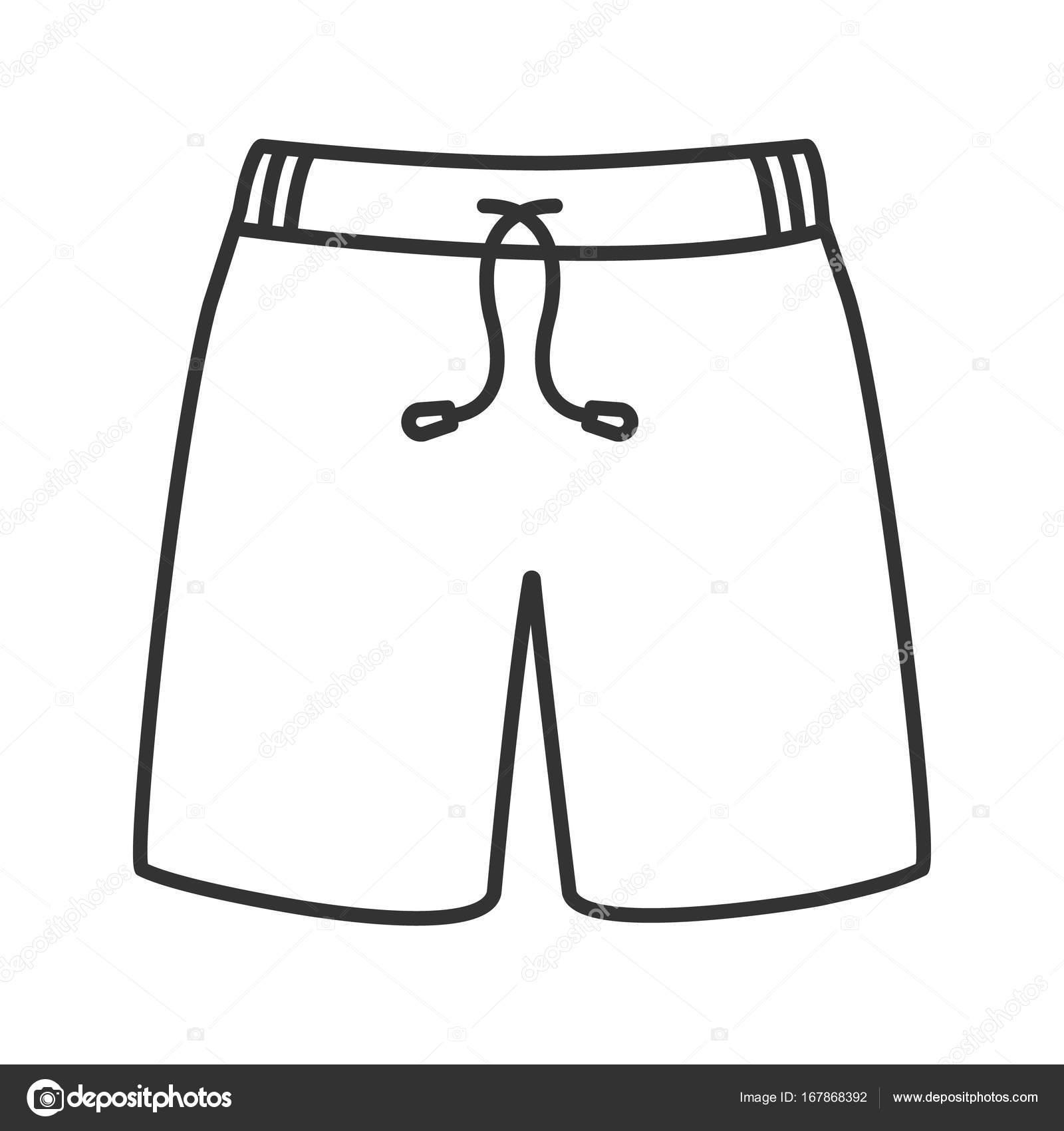 zwembroek lineaire pictogram stockvector 169 bsd 167868392