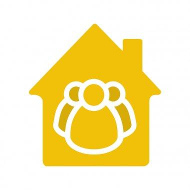 Housing cooperative glyph color icon