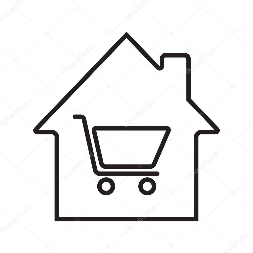 Household Goods Store: Household Goods Store Linear Icon