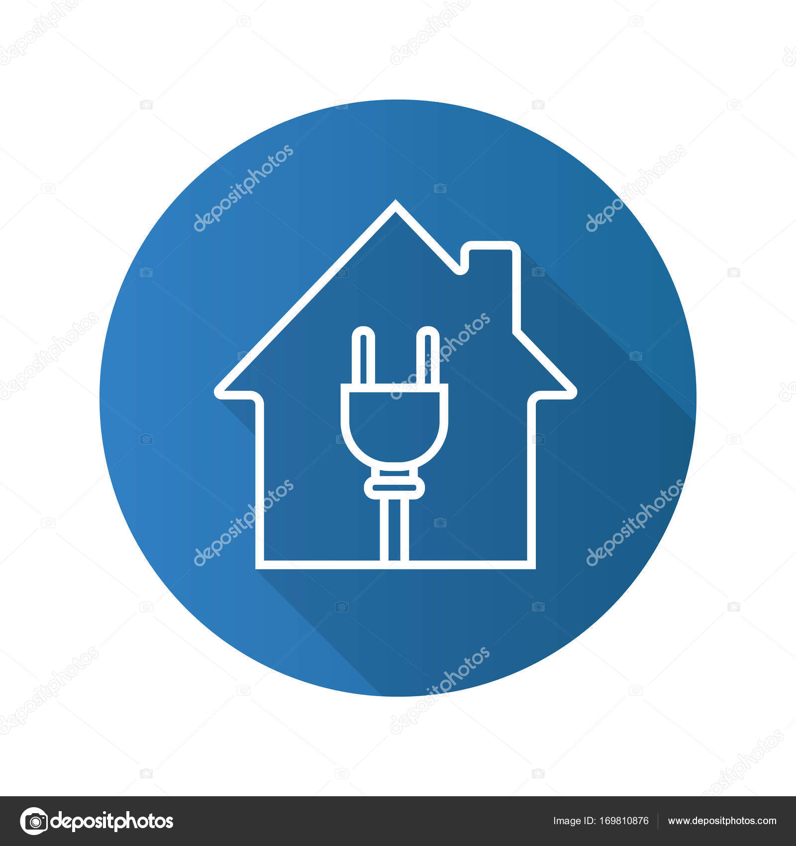 House With Wire Plug Icon Stock Vector Bsd 169810876 Wiring Diagram Symbol