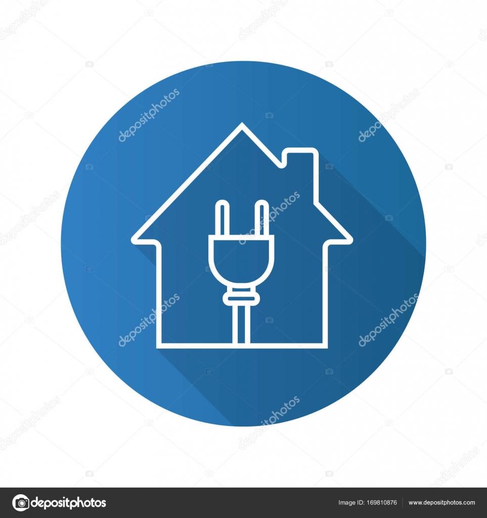 Haus mit Draht Stecker Symbol — Stockvektor © bsd #169810876