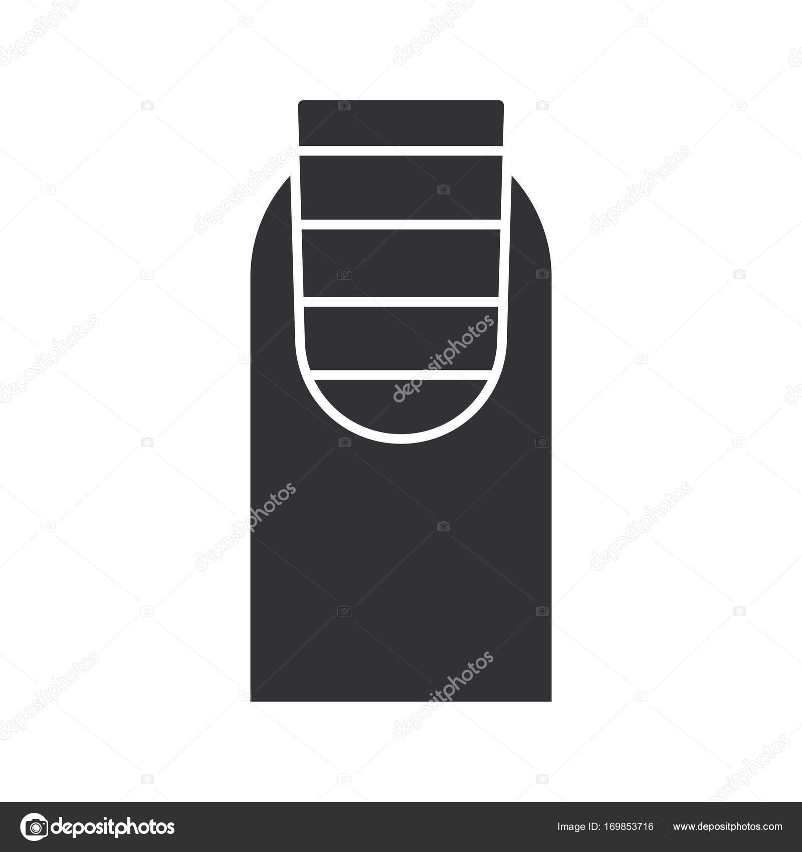 Gestreifte Nagel-Kunst-Design-Ikone — Stockvektor © bsd #169853716