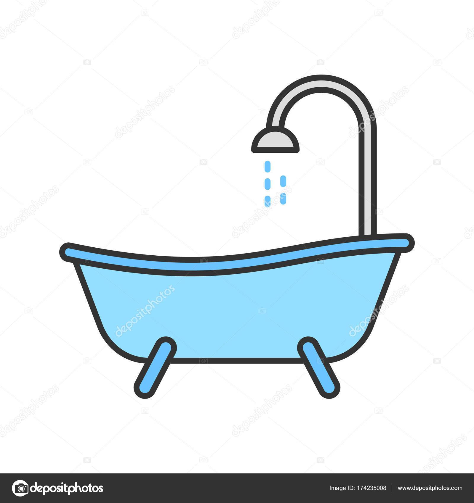 Bathtub color icon — Stock Vector © bsd #174235008