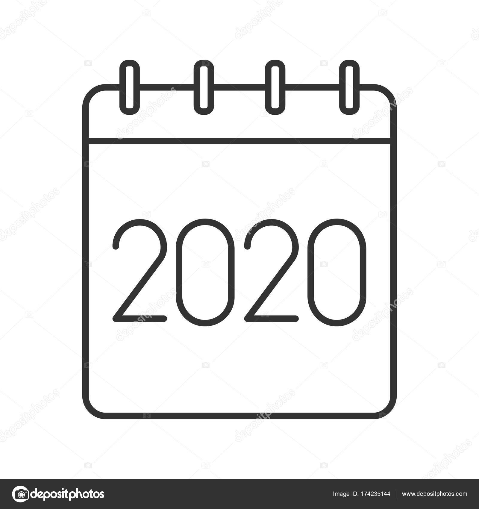 Bsd Calendar 2020 2020 annual calendar icon — Stock Vector © bsd #174235144