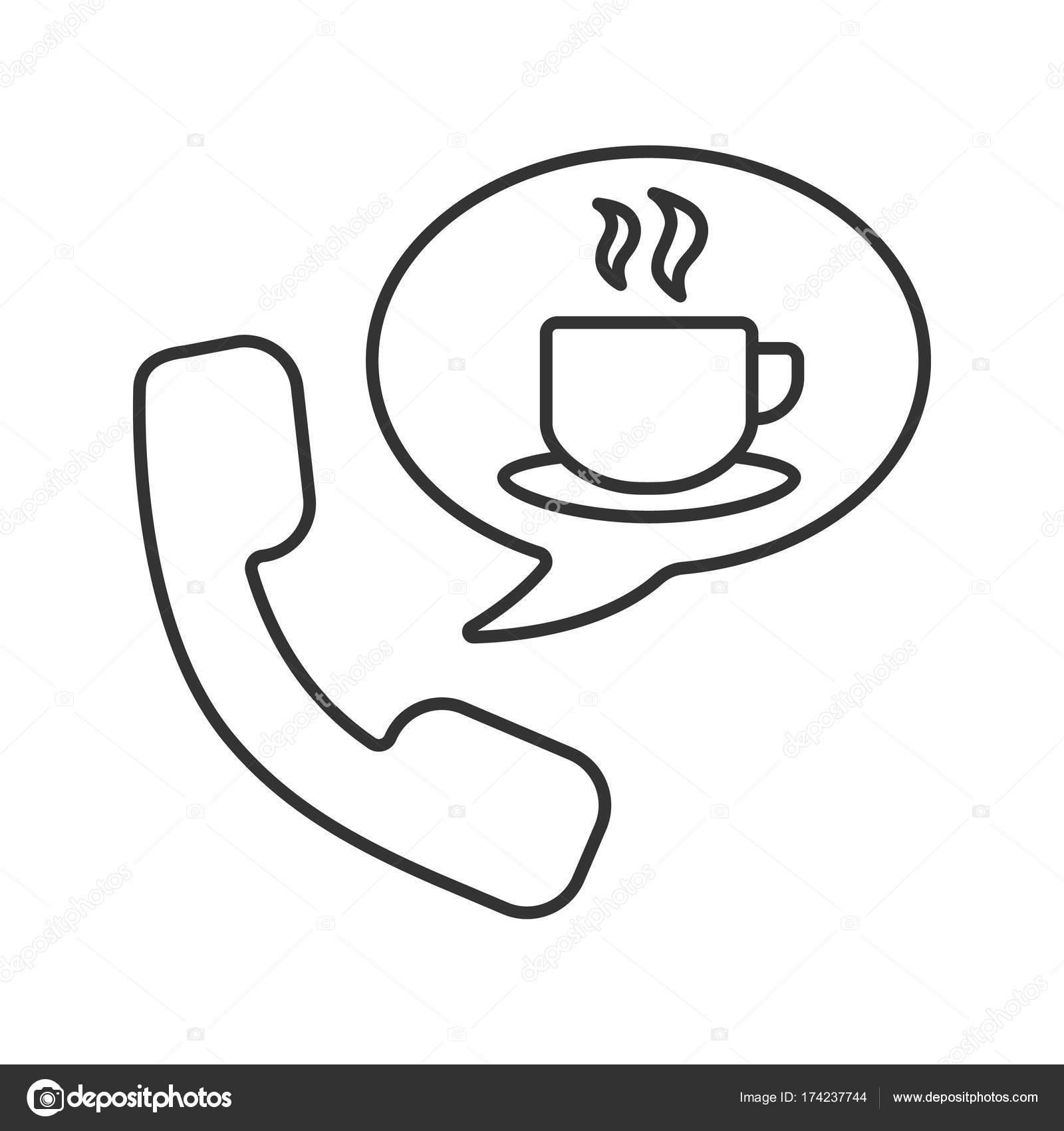 Heiße Getränke Telefon bestellen-Symbol — Stockvektor © bsd #174237744