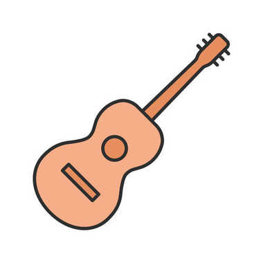 Guitar color icon