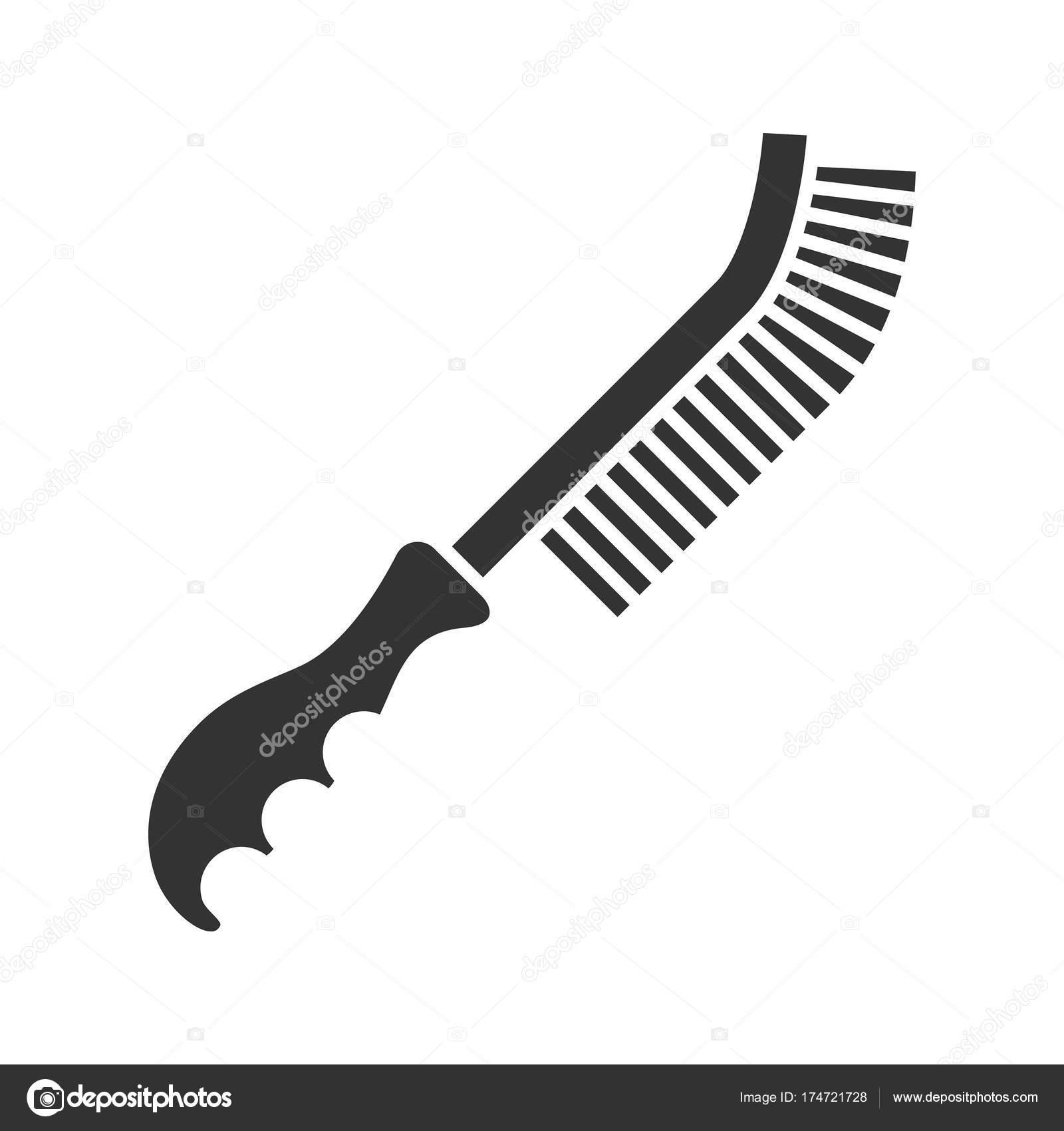 Draht-Pinsel-Symbol — Stockvektor © bsd #174721728