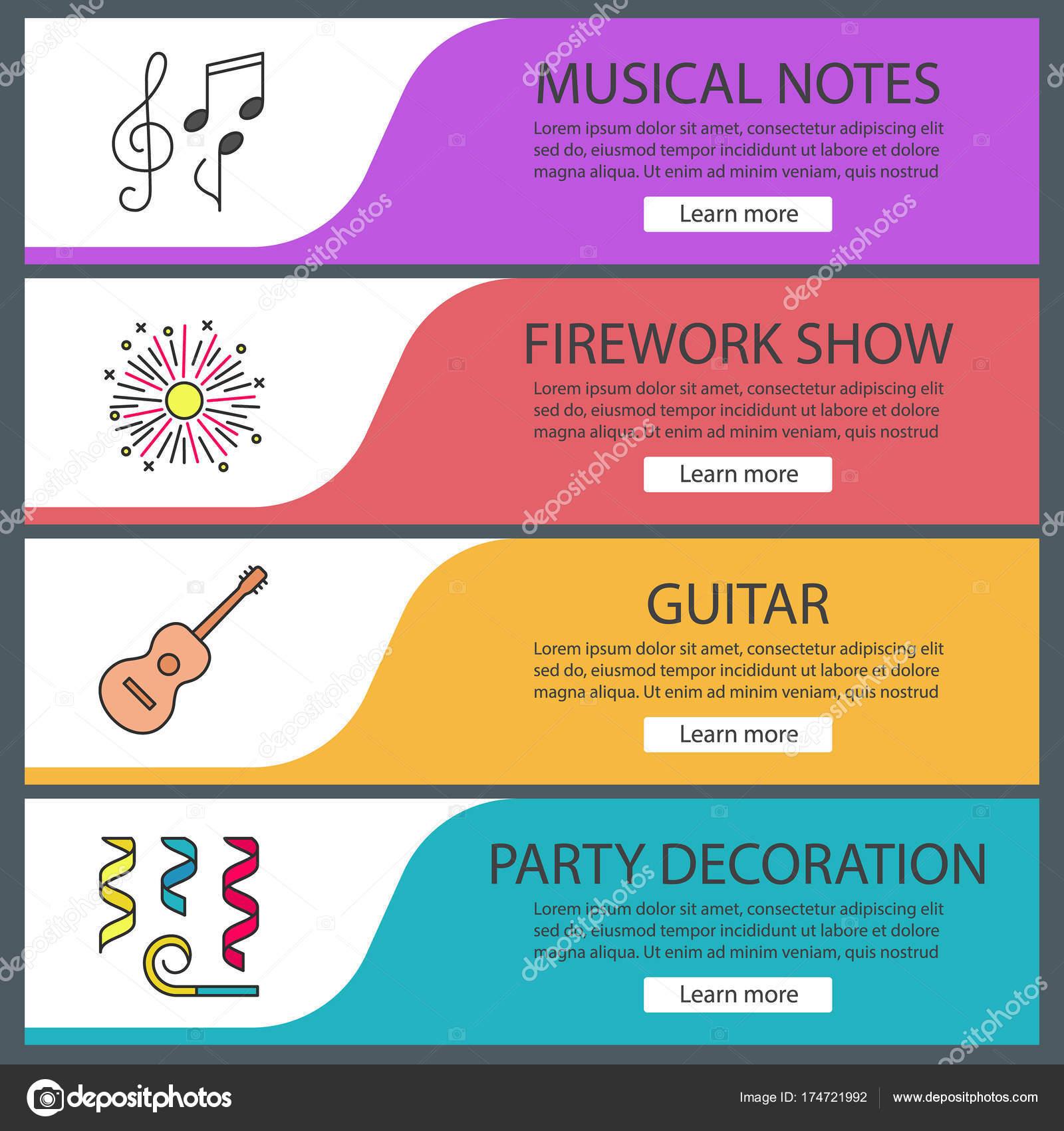 Accesorios fiestas banner plantillas — Vector de stock © bsd #174721992
