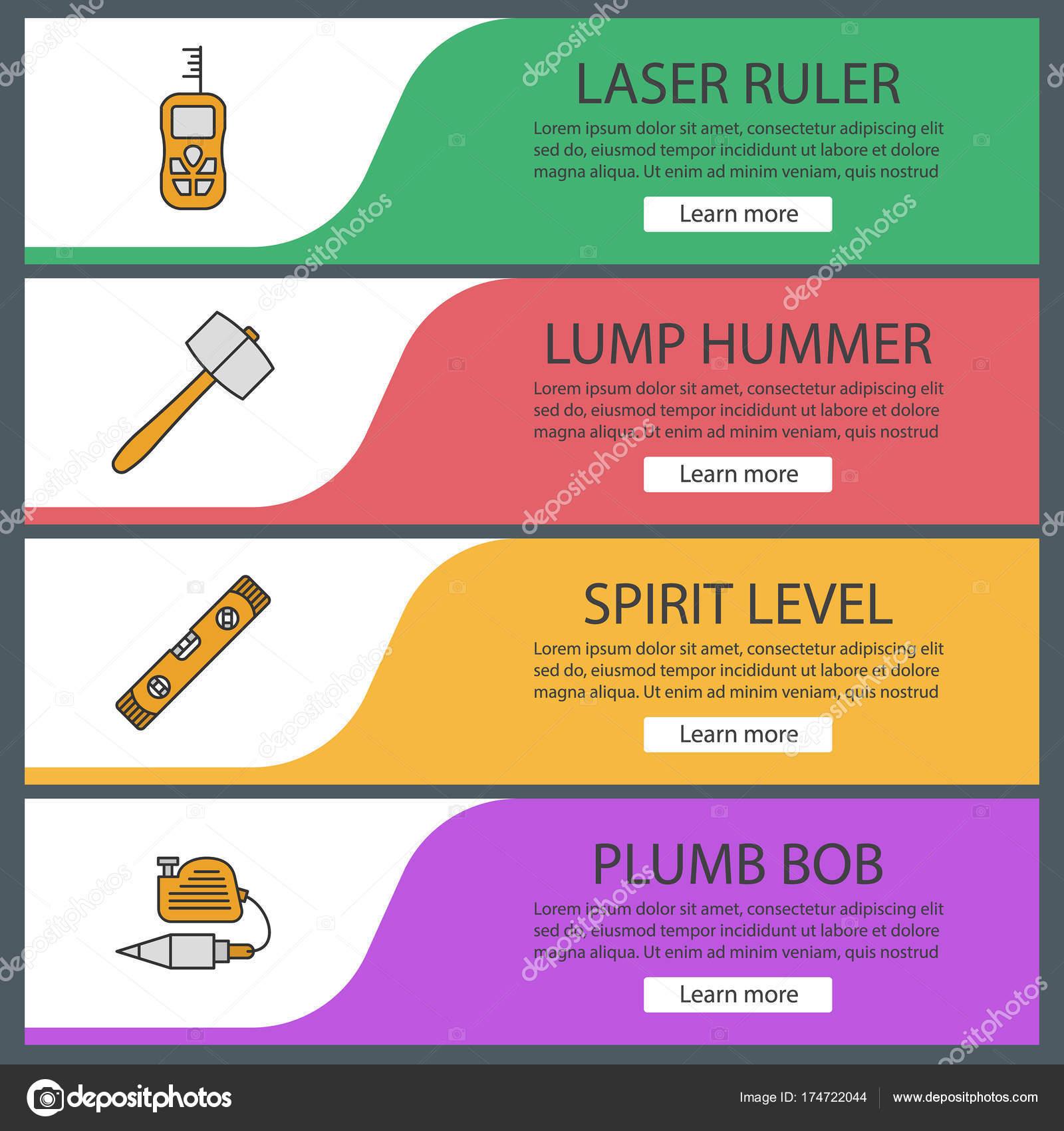Bau-Tools web-Banner-Vorlagen-set — Stockvektor © bsd #174722044