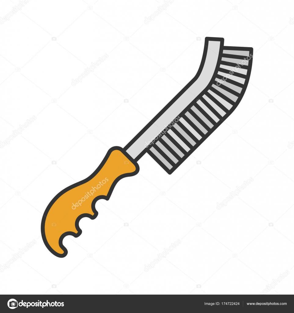 Draht-Pinsel-Symbol — Stockvektor © bsd #174722424