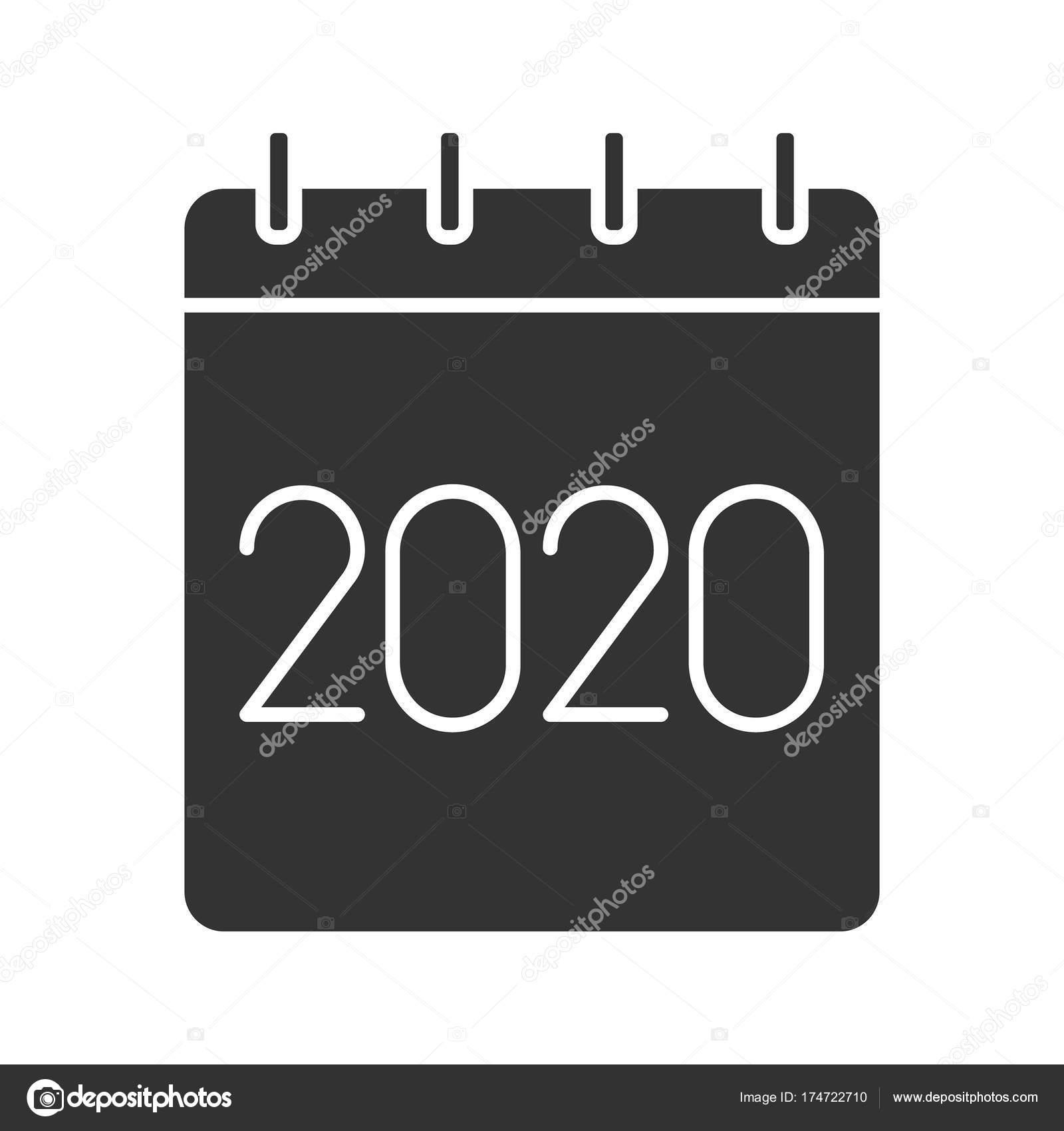 Bsd Calendar 2020 2020 annual calendar icon — Stock Vector © bsd #174722710