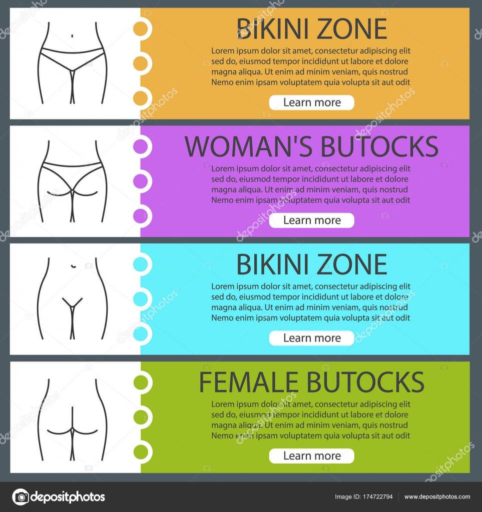 Teile des weiblichen Körpers banner-Vorlagen — Stockvektor © bsd ...