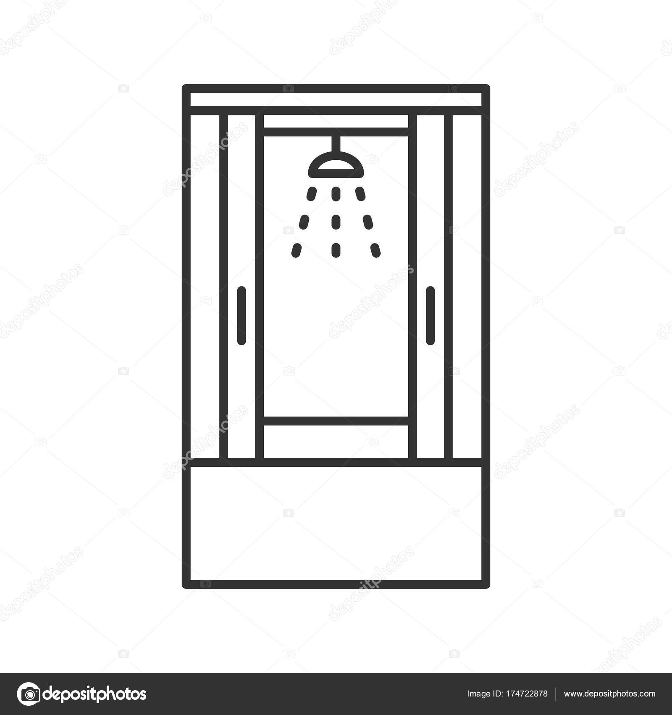 Duschkabine clipart  Dusche-Kabine-Symbol — Stockvektor © bsd #174722878