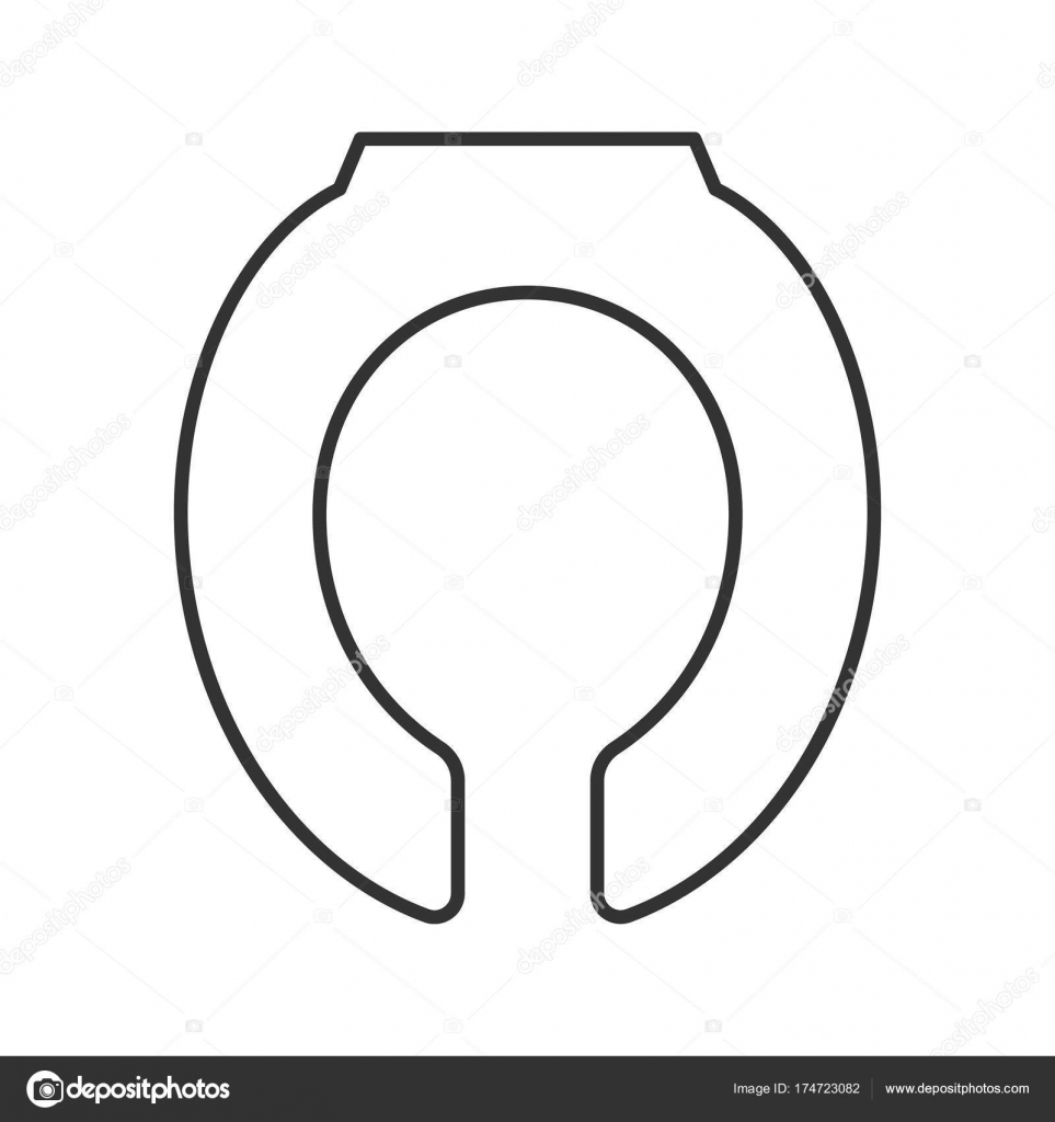 Toilet Seat Linear Icon Thin Line Illustration Contour Symbol Vector Isolated Outline Drawing By Bsd