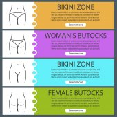 Ženské tělo části nápis šablony