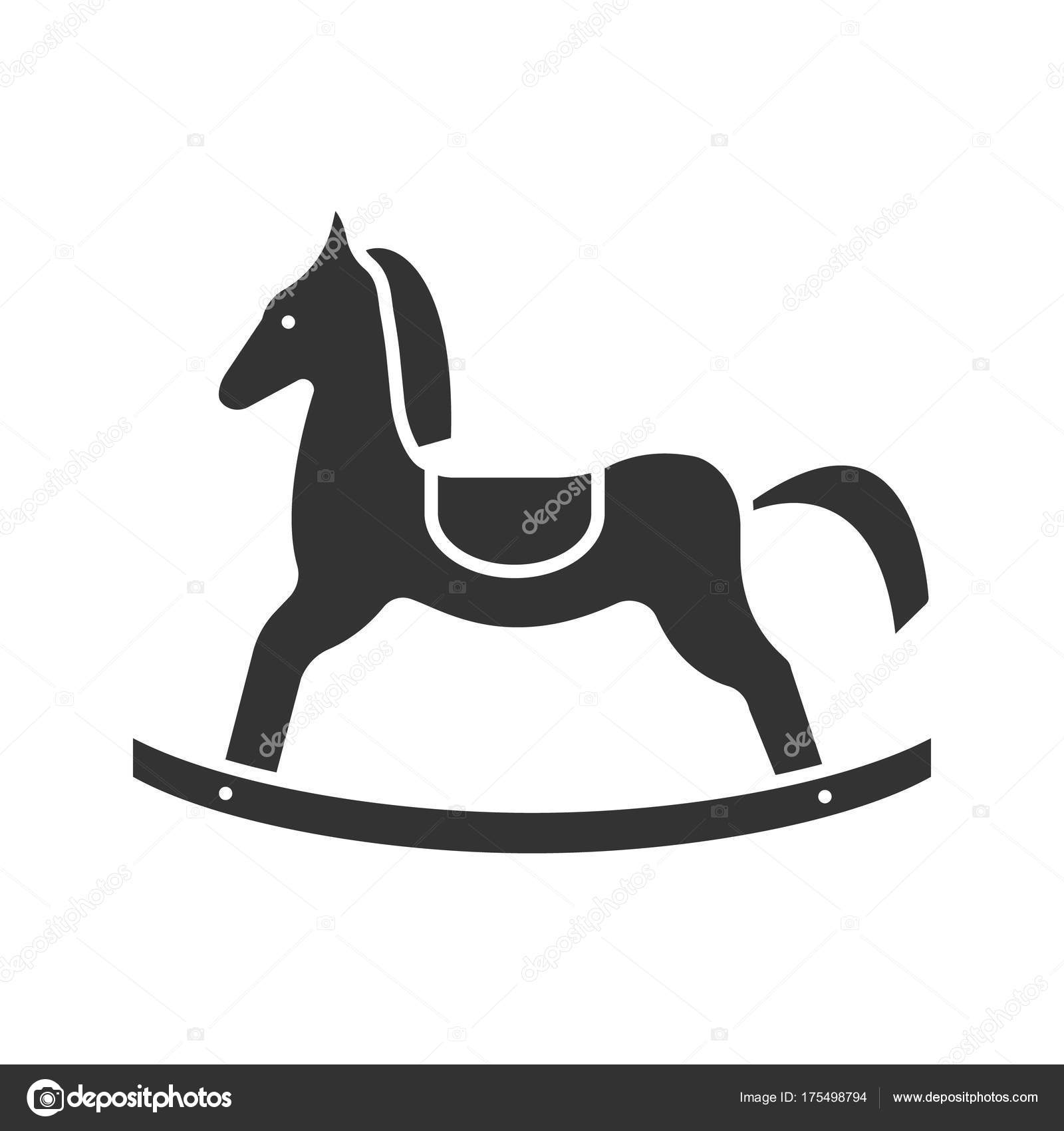 Rocking Horse Glyph Icon Silhouette Symbol Negative Space Vector Isolated Stock Vector C Bsd 175498794