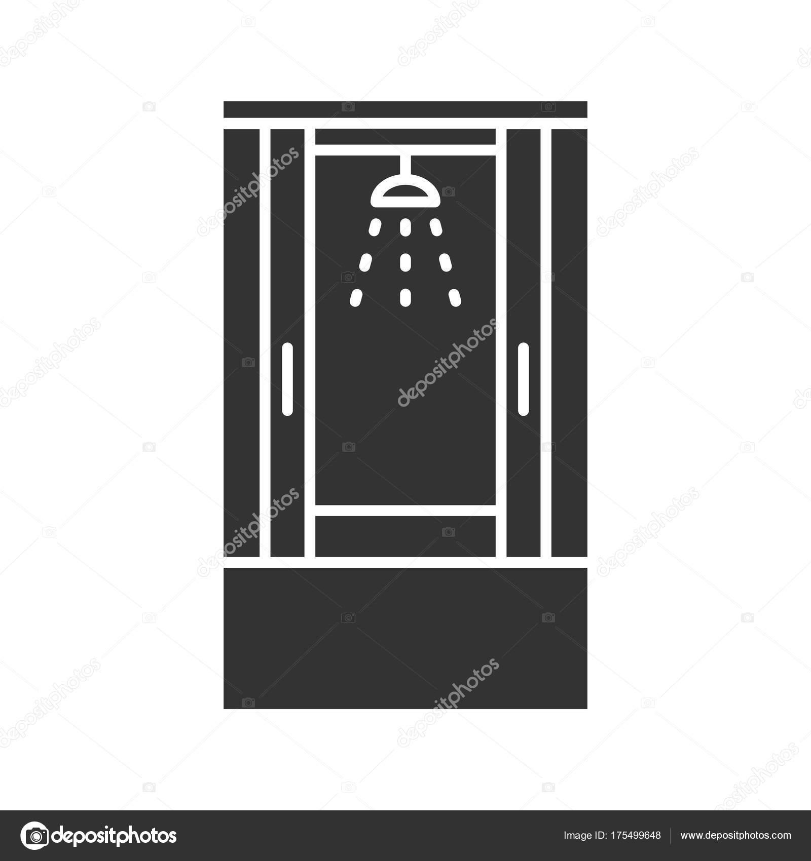 Duschkabine clipart  Dusche Kabine Glyph Symbol Silhouette Symbol Duschkabine Duschkabine ...