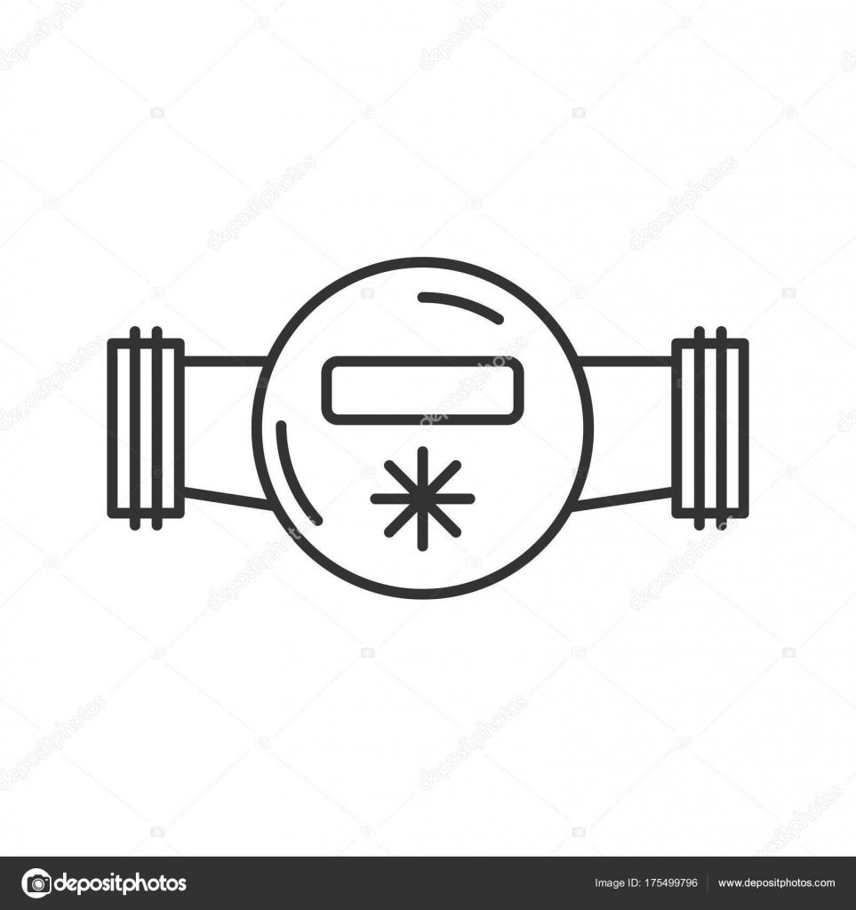 Water meter linear icon thin line illustration contour symbol water meter linear icon thin line illustration contour symbol vector stock vector biocorpaavc