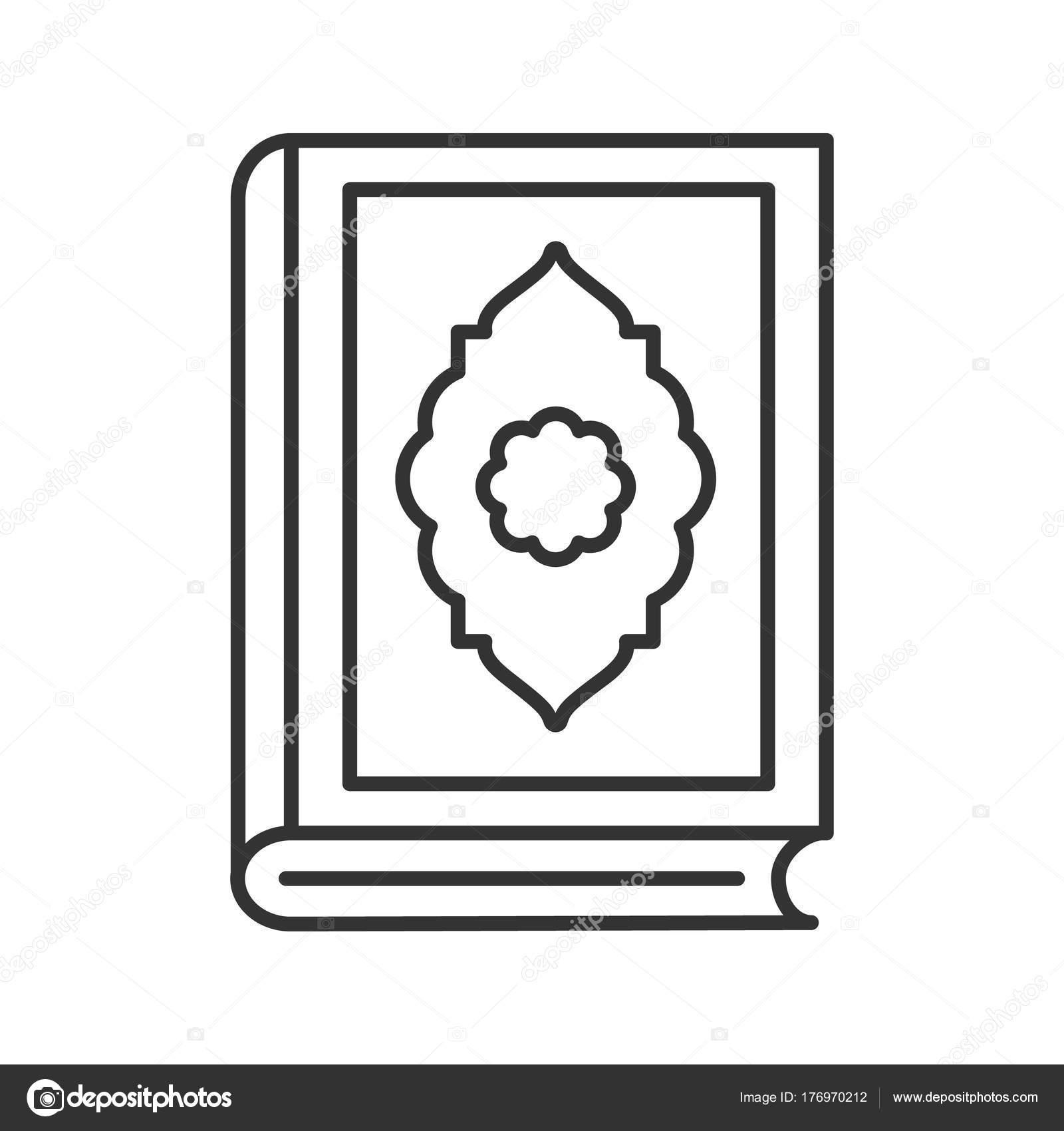 Quran Book Linear Icon Thin Line Illustration Islamic Religion Koran