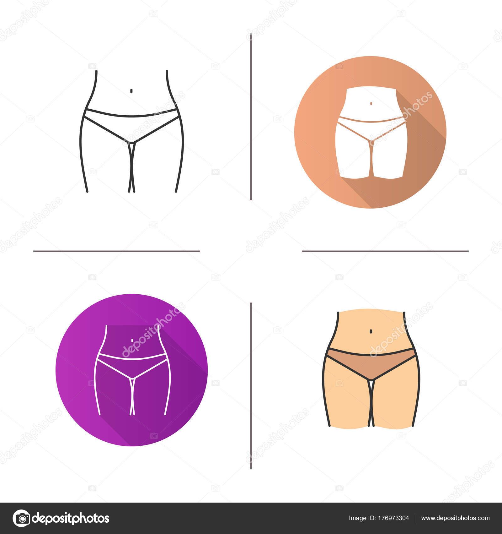 Zona Diseño Lineal Color Bikini Plano Del Icono Estilos Nnw08kOPX