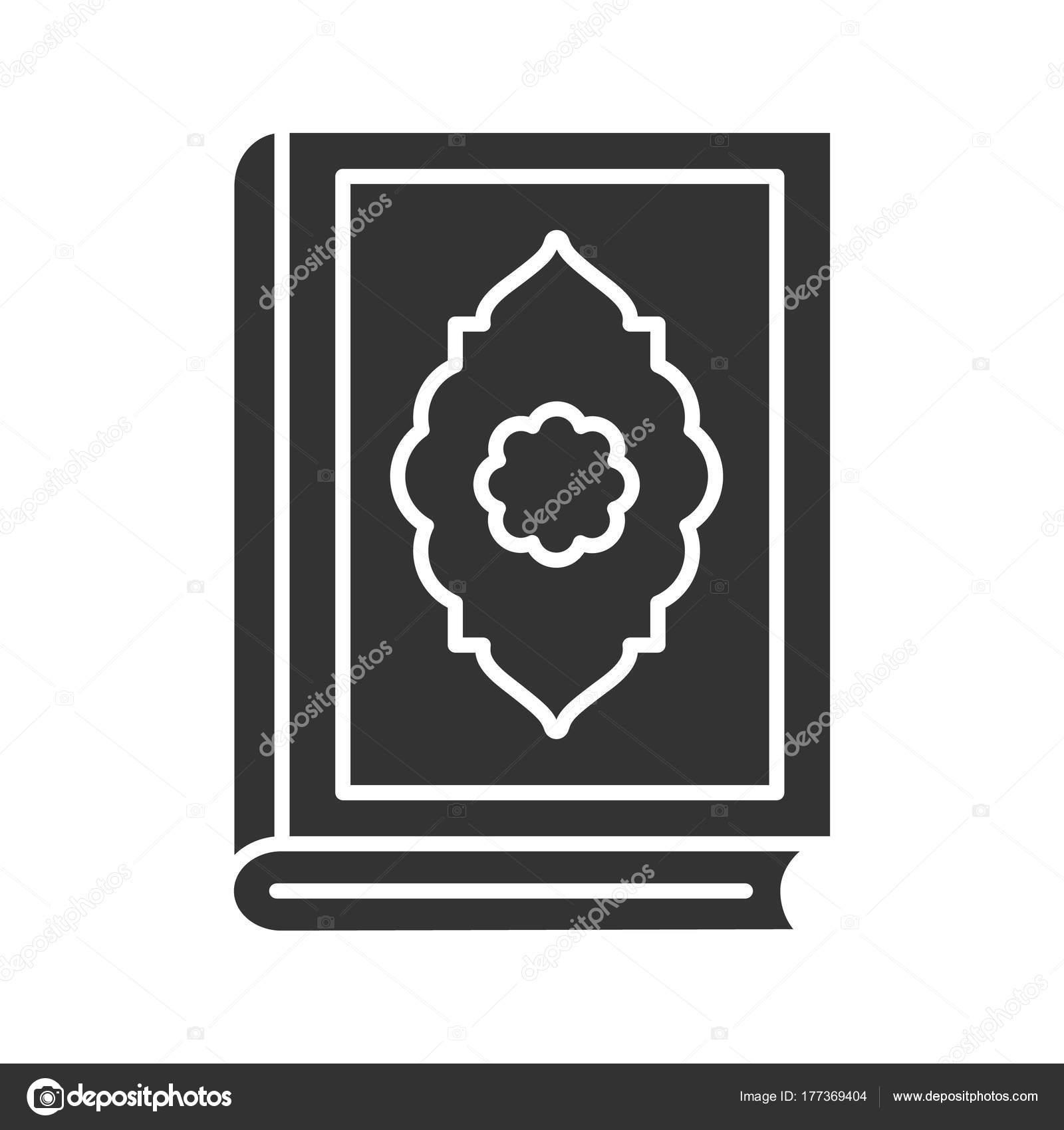 Quran book glyph icon islamic religion koran silhouette symbol quran book glyph icon islamic religion koran silhouette symbol negative stock vector biocorpaavc Images