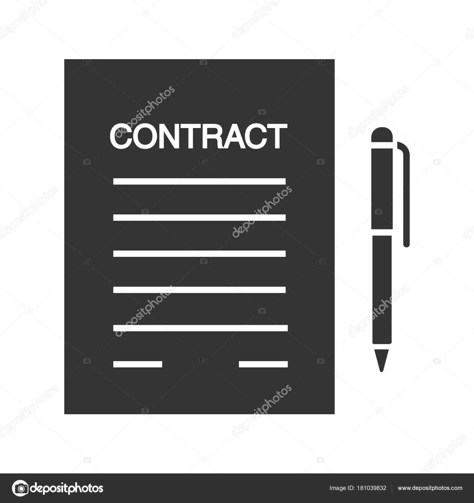Geschäftsvereinbarung, Vertrag Glyph-Symbol — Stockvektor © bsd ...
