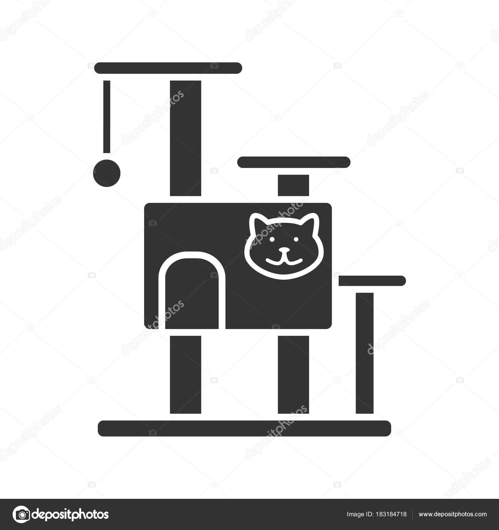 Awe Inspiring Cat Tree House Glyph Icon Pets Furniture Scratching Post Download Free Architecture Designs Scobabritishbridgeorg