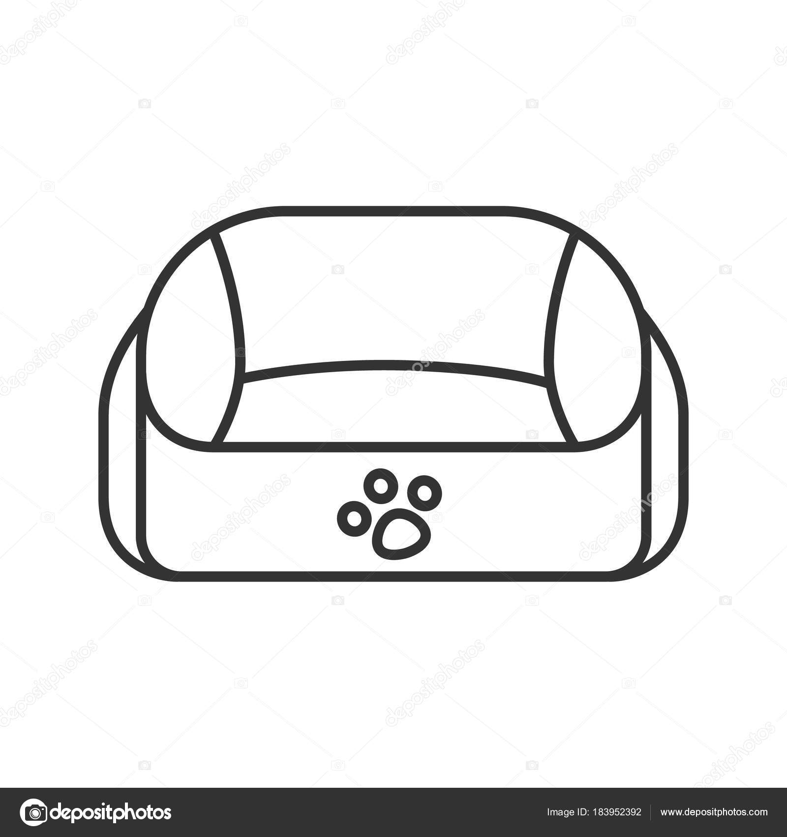 Drawing Lines Using Javascript : Pet bed linear icon thin line illustration contour symbol