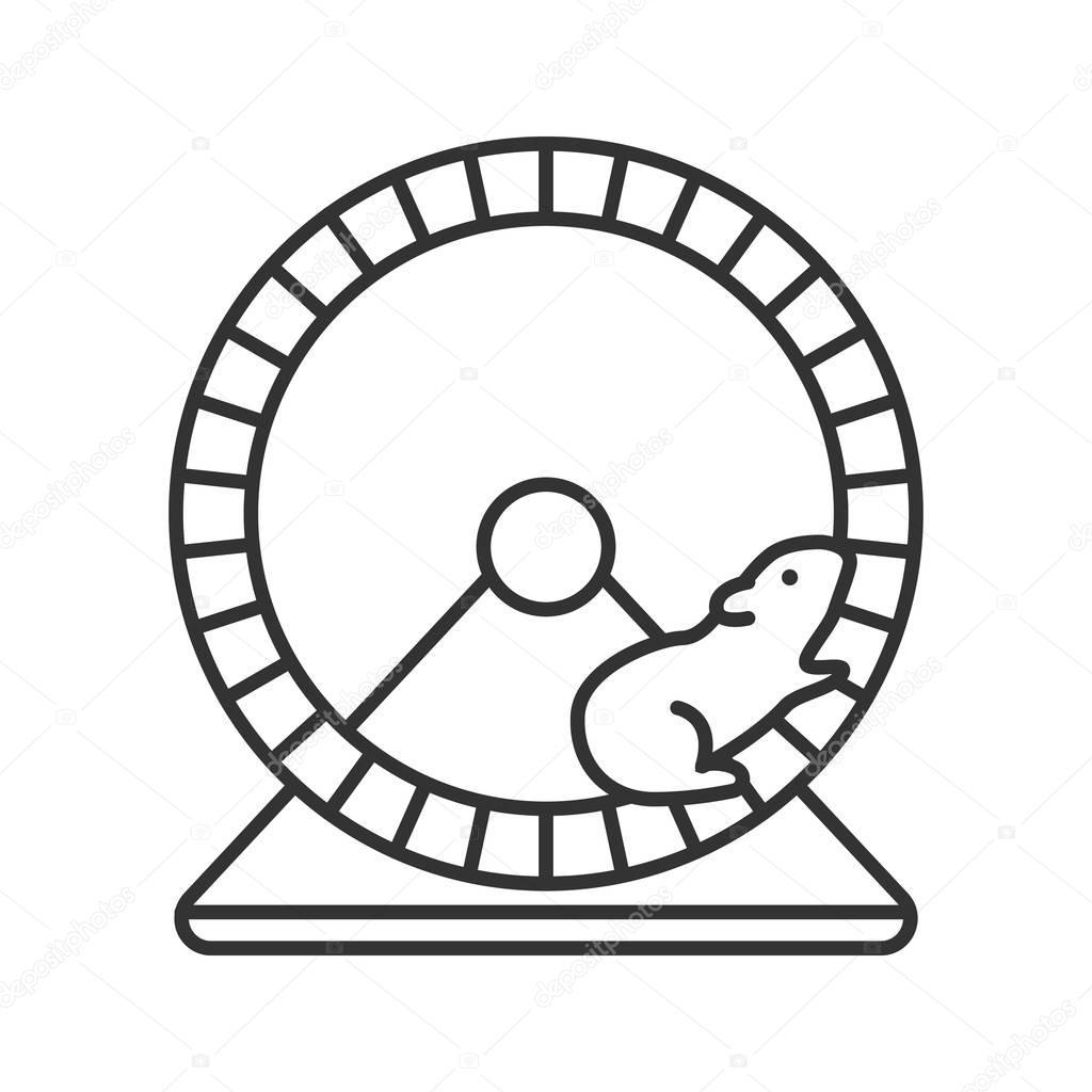 Imágenes Rueda De Hamster Dibujo Icono Lineal Rueda