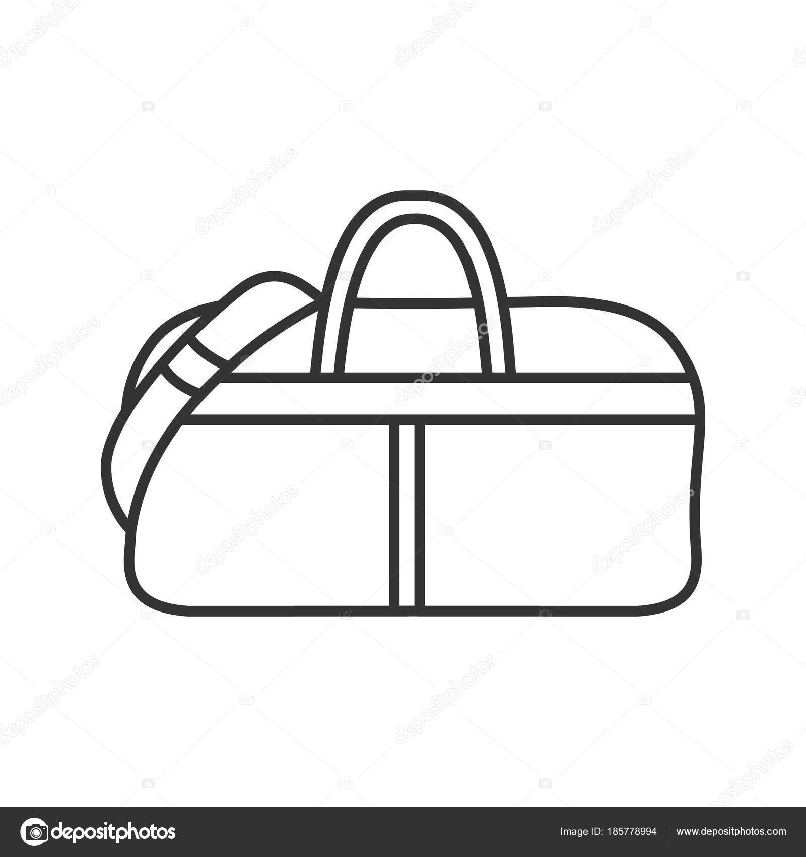 c46b2771fe Sports Bag Linear Icon Thin Line Illustration Duffel Handbag Contour —  Stock Vector