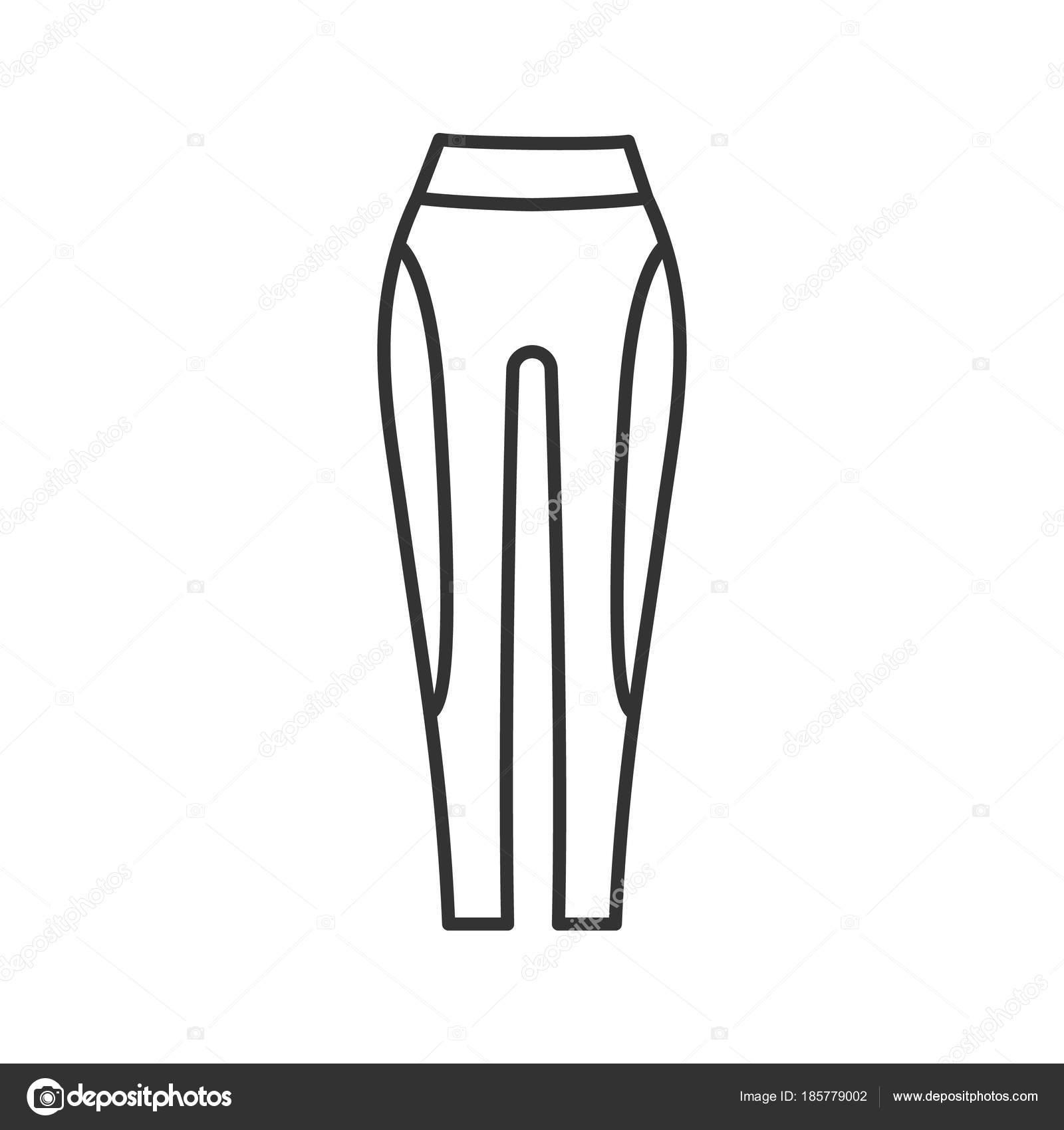 Linéaire Icône Sport Femmes Ligne Pantalon Mince Illustration nEfwzq