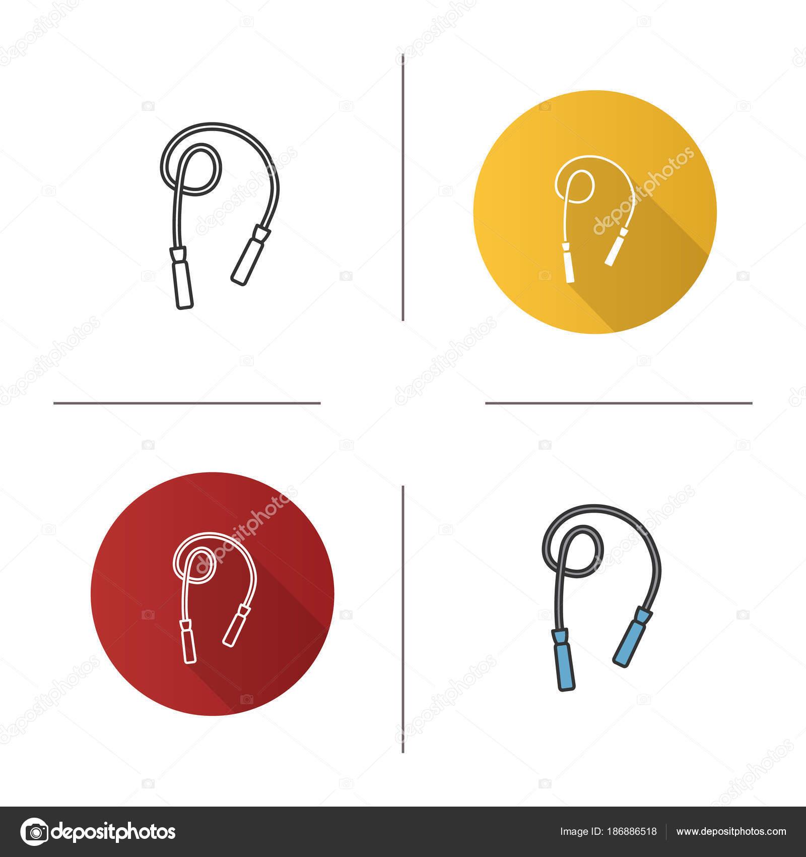 depositphotos_186886518 stock illustration jump rope icon flat design jump rope icon flat design linear color styles skipping rope stock