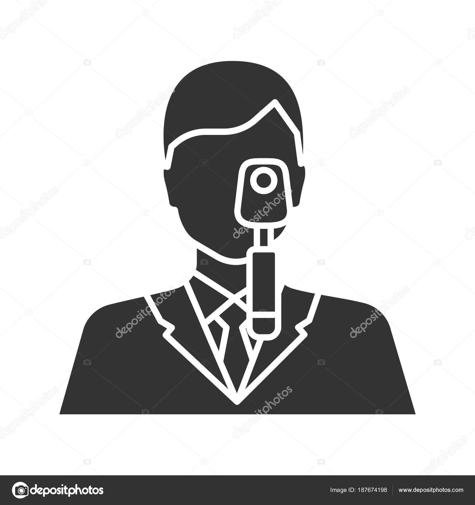 c1300624d7c Doctor Ophthalmoscope Glyph Icon Ophthalmologist Optometrist Silhouette  Symbol Negative Space — Stock Vector