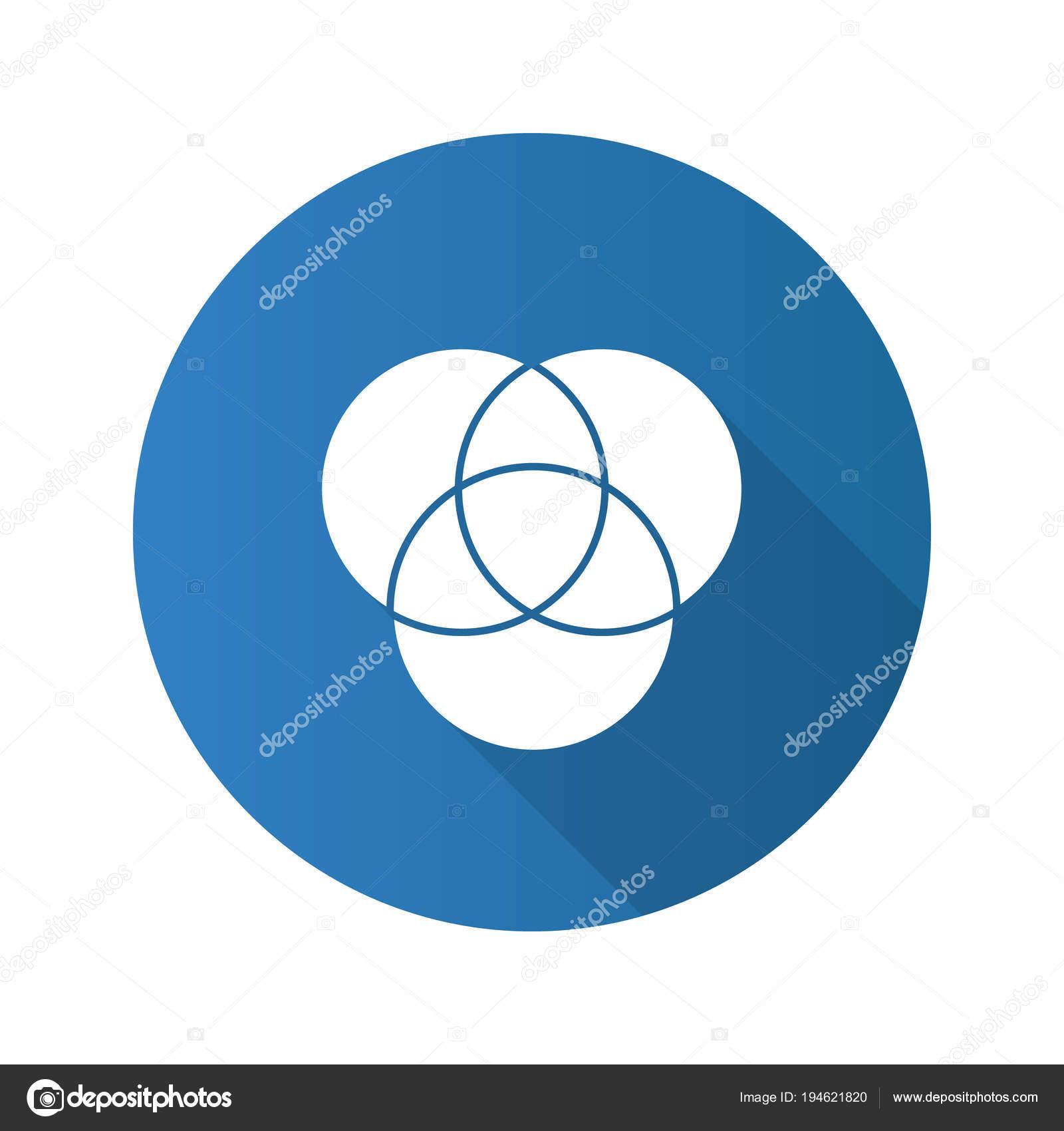 cmyk rgb color circles flat design long shadow glyph icon stock rh depositphotos com Vector Golf Club Silhouette Vector Golf Balls